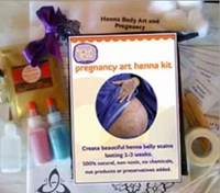 Proud Body Henna Pregnancy Art Kit ON SALE 35% OFF