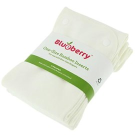 Blueberry One Size Bamboo Inserts - 3 Pack