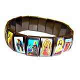 Ceramic Religious Icon Tile Bracelet