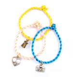 Design Your Own Silk Cord Bracelet With Charm