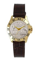 Australian Collection Gold Case with Florin and brown leather band