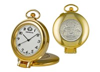 Coinwatch Clock Collection Gold Case With Australian Kangaroo Penny Original