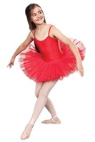 Girls Princess Line Tutu, (Budget Range), Red