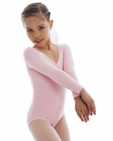 Energetiks Long Sleeve Leotard Gathered Front, Child's, CL05