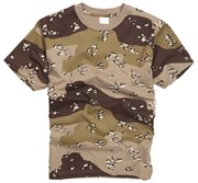 100% Cotton Basic Military Style T-shirt - US Desert