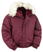 N2B Extreme Weather Flight Jacket- Maroon
