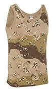 100% Cotton Basic US Desert Camo Vest Top Unisex