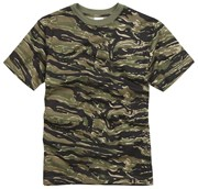 100% Cotton Basic Military Style T-shirt - Tiger Stripe