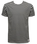 Russian Striped Short Sleeve T-shirt Navy