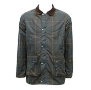 New ENGLAND Plaid Pattern Wax Jacket