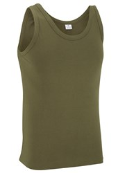 100% Cotton Basic Vest Top Unisex Olive