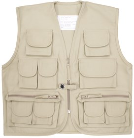 Kids Multi-Pocket Fishing Vest Beige