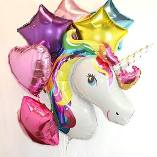 Rainbow Unicorn Balloon Bouquet