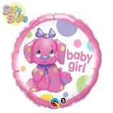 Spotty Dog Baby Girl Balloon In A Box
