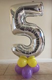 Table Top Number Balloons