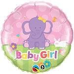 Baby Girl Little Elephant Balloon In A Box