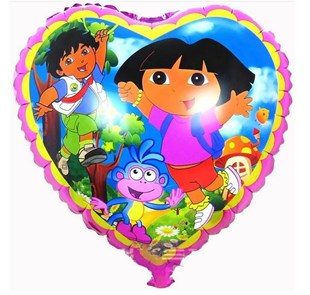Dora Heart Balloon In A Box
