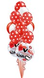 Kiss Bubble Valentines Day Bouquet