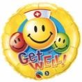 Get Well Smiley Nurse Balloon In A Box