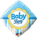 Baby Boy Diamond Balloon In A Box