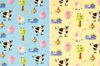 Farm design cot-bed duvet sets