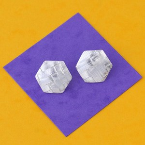 tejida hexagon earrings