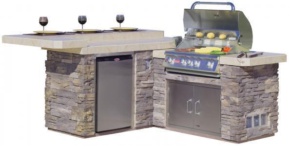 Bull jr gourmet q outdoor island kitchen for Outdoor kitchen islands and bars