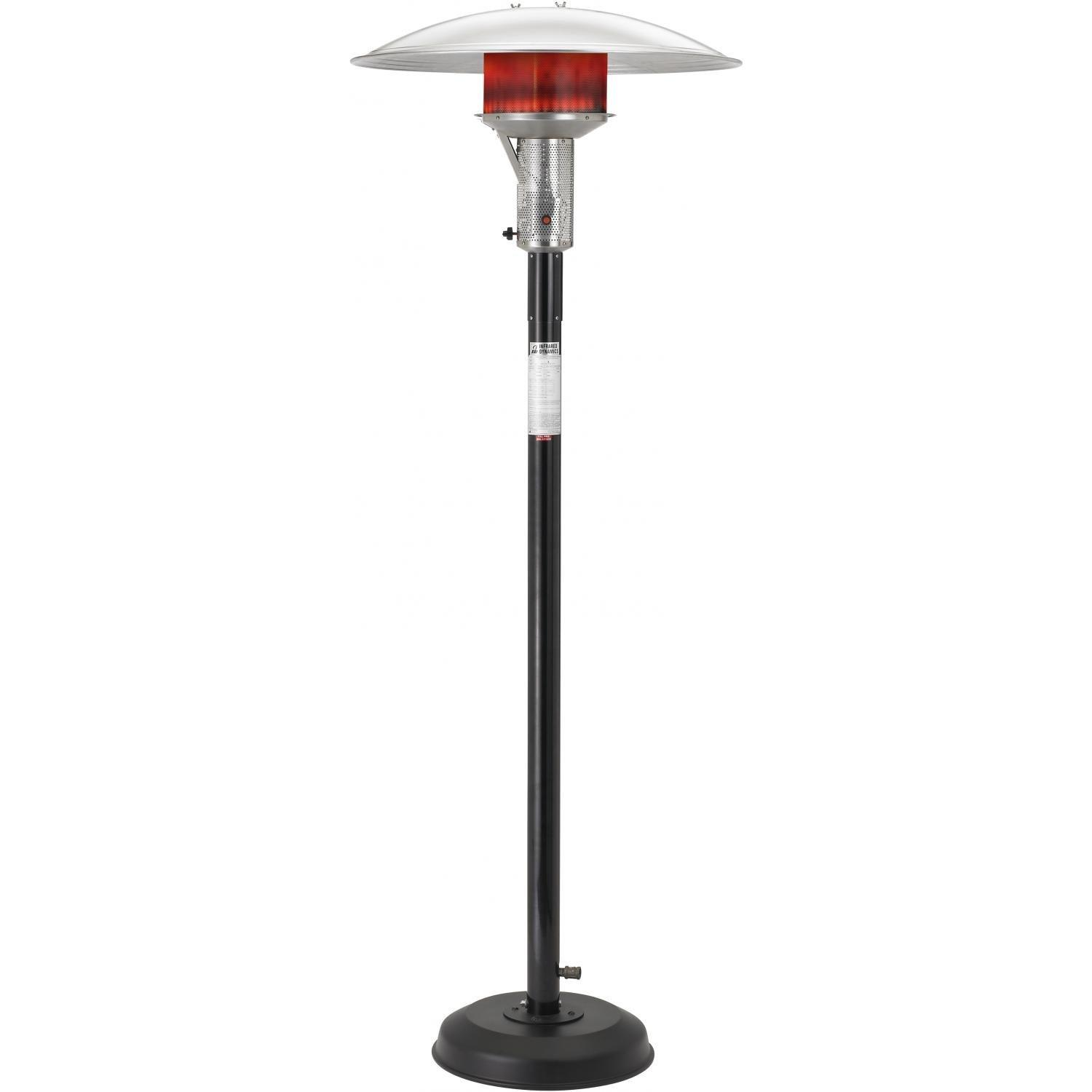 sunglo a242b portable black patio heater gas