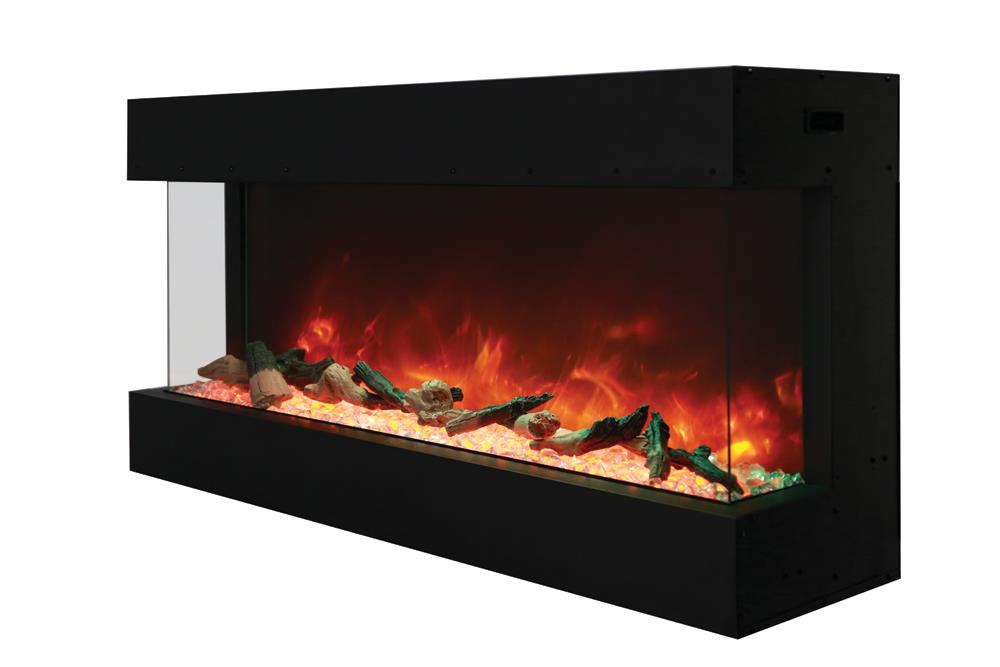 Amantii Panorama Series 50 3 Sided Electric Fireplace 50 Tru View Xl