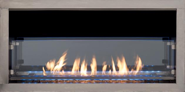 Superior 60 Series Linear Outdoor Gas Fireplace Insert Single