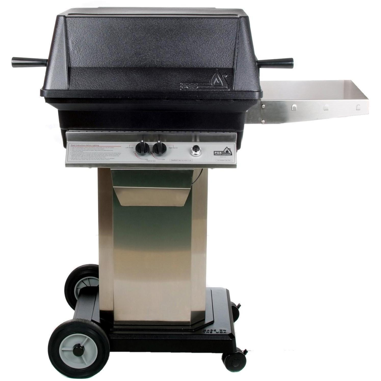 Pgs a cast aluminum propane gas grill on stainless steel
