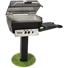 BROILMASTER DELUXE GAS GRILL PKG 2 W/INGROUND POST & SIDE SHELF H3PK2N