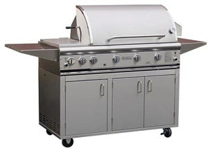 ProFire Professional Series 48-Inch Freestanding Infrared Hybrid  Gas Grill With Double Side Burner - PF48SIH + PF48SSCBN