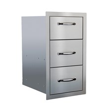STG Excalibur Premier 17-in. Stainless Steel Triple Drawer  STGDR-3