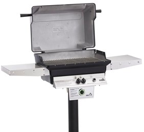 """PGS A40 Cast Aluminum Gas Grill 48"""" Permanent Post/Feed Line On In-ground PostA40+APP"""