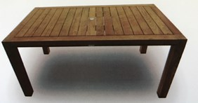 "ROYAL TEAK COLLECTION 63"" Comfort Teak Table Model# COMF63"