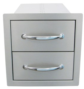 SUNSTONE 14 INCH FLUSH DOUBLE ACCESS DRAWER #B-DD12