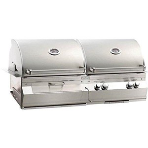 Fire Magic Aurora A830i Built-in Dual Natural Gas/ Charcoal Combo Bbq Grill w/1 infrared burner - A830i-5lan-cb
