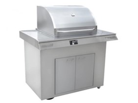 LOUISIANA 47 INCH PELLET GRILL WITH CART BASE WITH DOORS LG-003000-5047