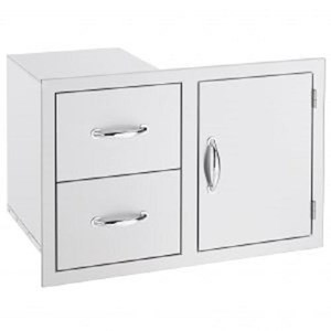 SUMMERSET STAINLESS STEEL DOOR & DRAWER COMBO  SSDC-1