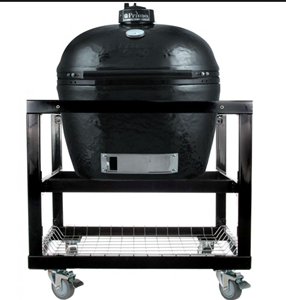 Primo LG300 Ceramic Charcoal Smoker Grill On Cart with Wheels #368 (PRM775 + PRM368)