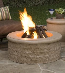 AMERICAN FYRE DESIGN CHISELED FIRE PIT #680-xx-11-V6xc