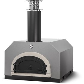 Chicago Brick Oven CBO-500 Countertop Outdoor Wood Fired Pizza Oven - Silver Vein