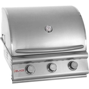 Blaze 25 Inch 3 Burner Built In Grill - Liquid Propane  -  BLZ-3-LP