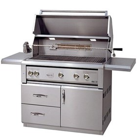 "Luxor  42"" Free Standing Gas Grill With Rotisserie  AHT-42FR-L"