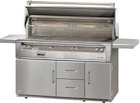 "56"" Alfresco Standard All Grill On Refrigerated Cart Base ALXE56BFGR"