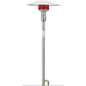 Sunglo PSA265SS 50000 Btu Natural Gas Post-mount Patio Heater - Stainless Steel