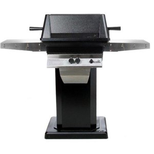 PGS A40 Cast Aluminum Gas Grill on Black Flat Patio Base A40+ABPED+ANB