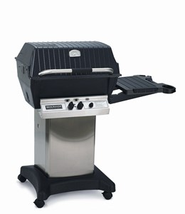 Broilmaster Premium Gas Grill Package 5 with Stainless Cart/Base and Side Shelf P3PK5 Propane