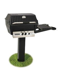 BROILMASTER Deluxe Gas Grill Package 2, with 2-Piece In-Ground Post & Side Shelf Natural Gas H4PK2N